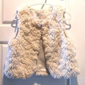 3/$30 - H&M Girl's Fur Vest - size 4
